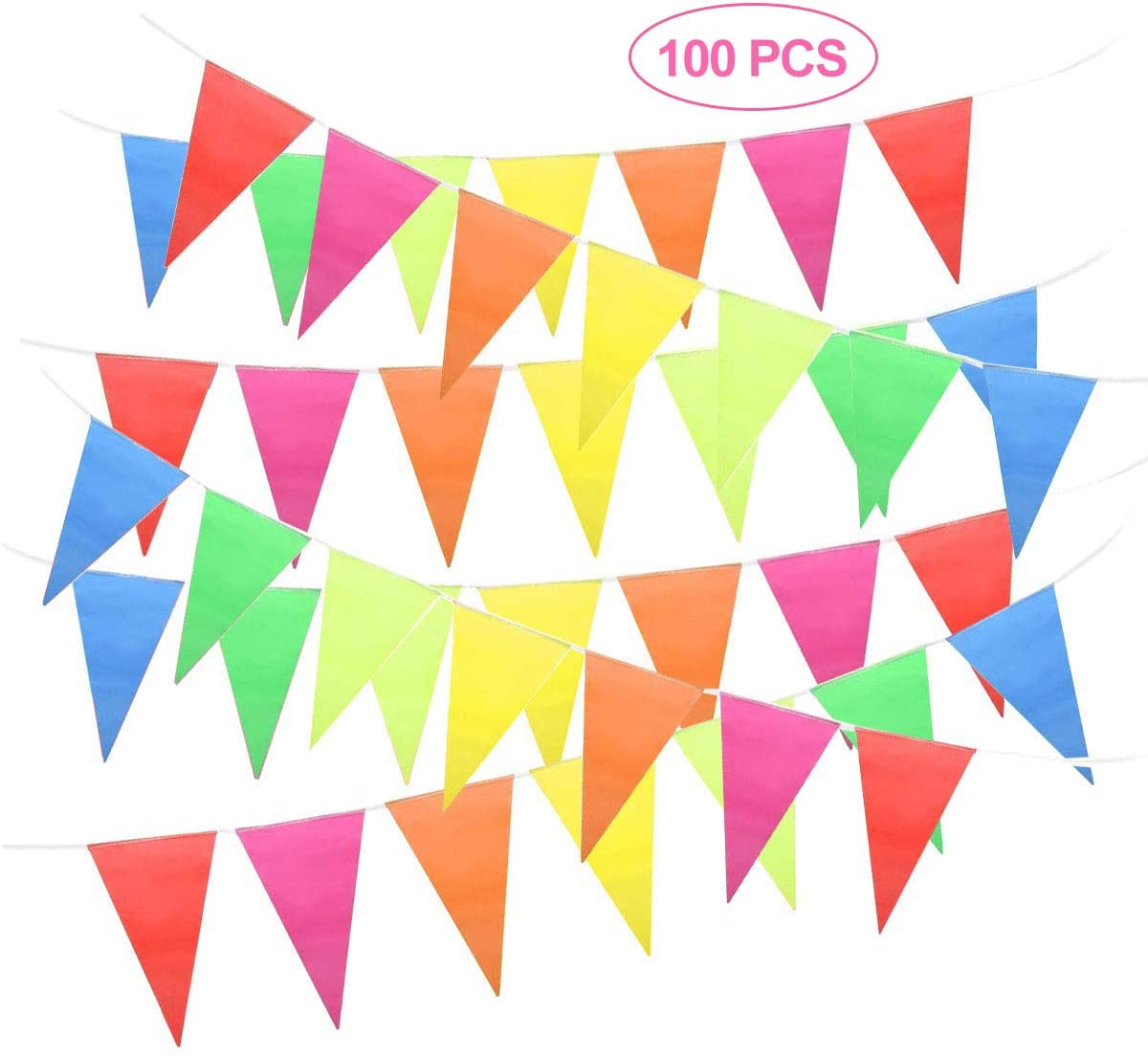 Orange 20 Flag Plastic 10 Metre Bunting Flags Party Decoration Celebration