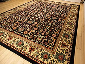 Black Traditional Rug Large 8x11 Area Rugs Persian 8x10 Dining Room Carpet Living 8 X 11