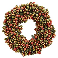 6.5-inch Beaded Berry Wreath Candlering ...