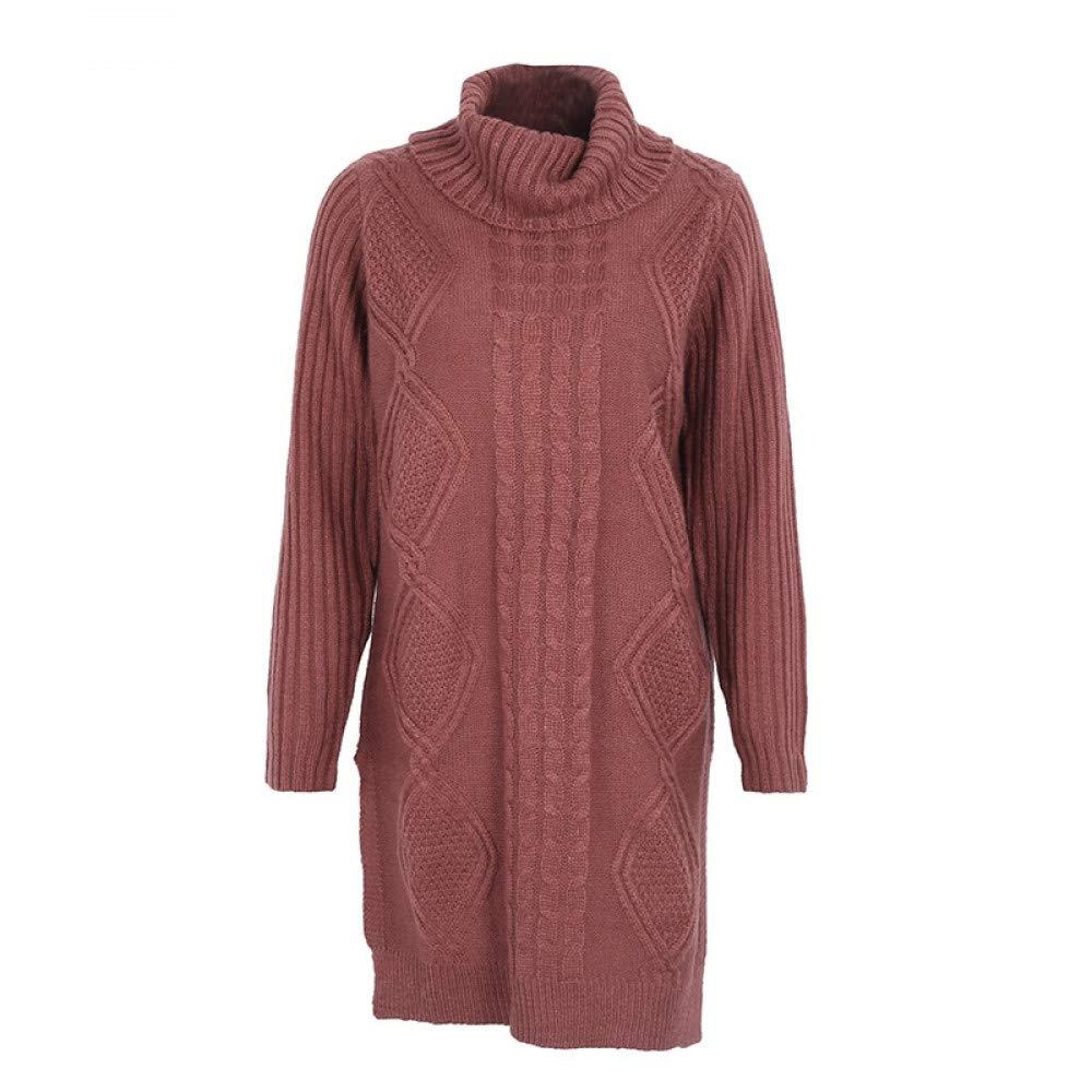FUHENGMY Pullover Turtleneck Hohe Split Stricken Pullover Frauen Herbst Winter Langarm Pullover Pull Damenschuhe Streetwear Weichen Pullover
