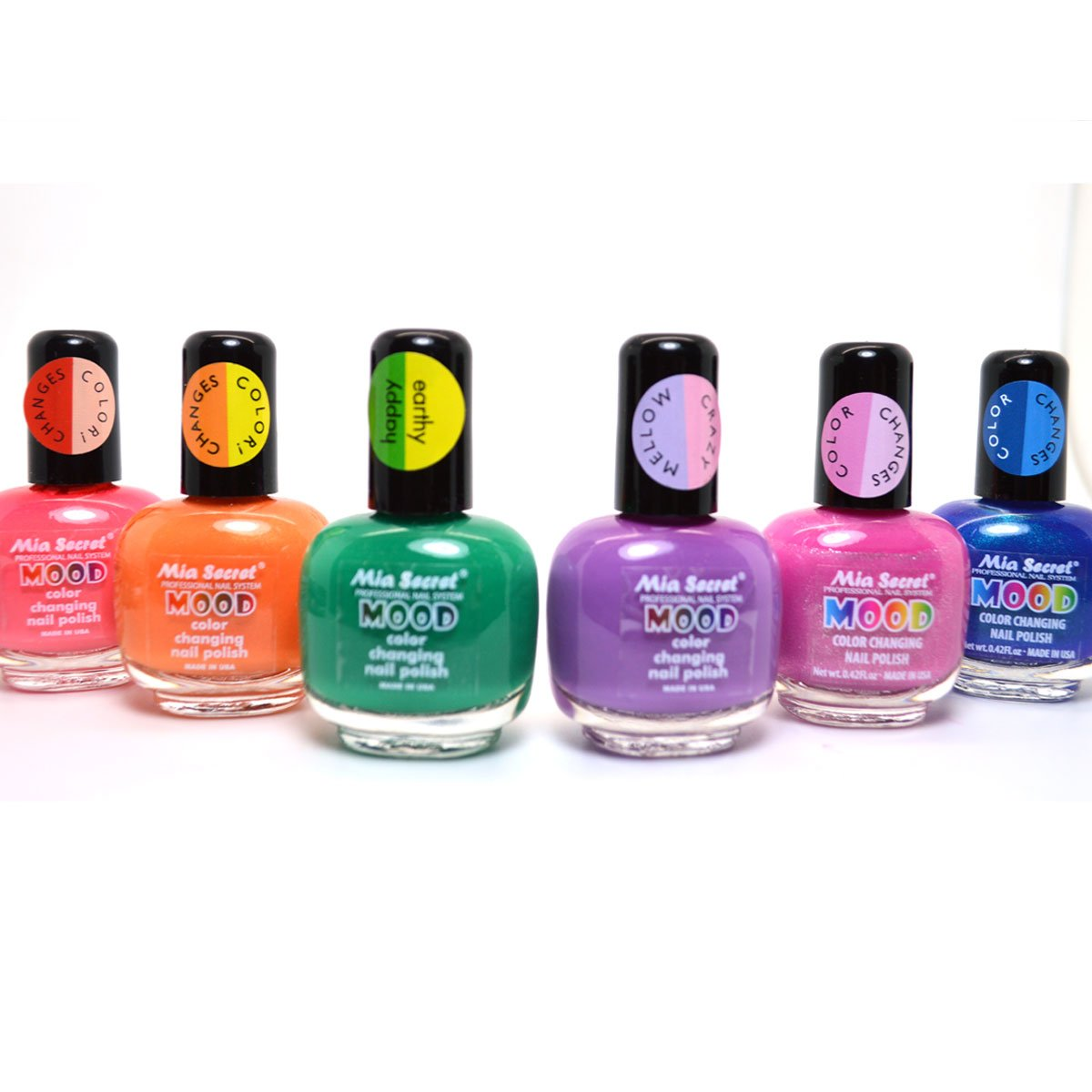Amazon.com : 6 FULL MIA SECRET MOOD COLOR CHANGING NAIL POLISH ...
