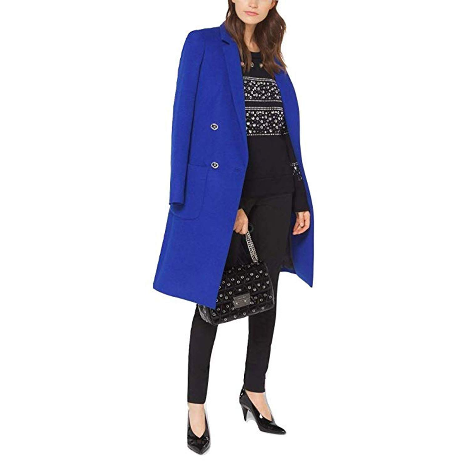 50-70%off new concept fine quality Amazon.com: Michael Michael Kors Wool-Blend Officer's Coat ...