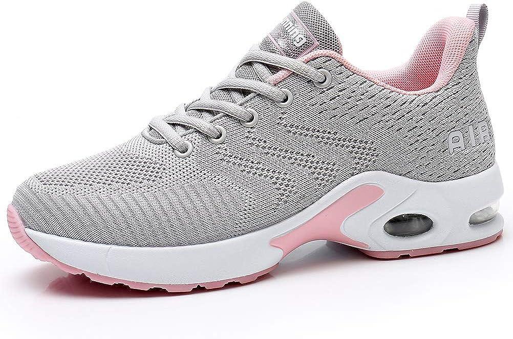 Dannto Zapatos Deporte Mujer Zapatillas Deportivas Correr Gimnasio Casual Zapatos para Caminar Mesh Running Transpirable Aumentar Más Altos Sneakers