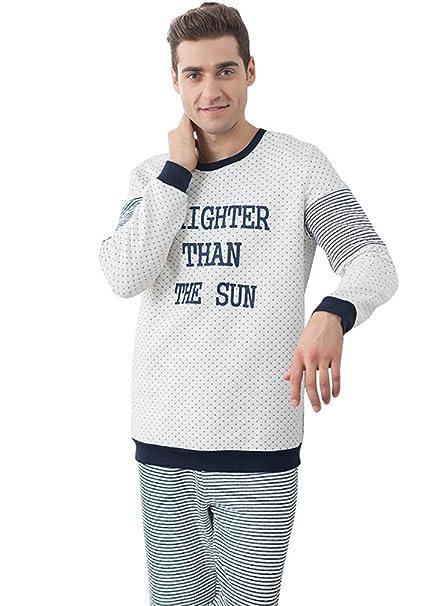 LvRao Pijama de Algodón para Mujeres y Hombres Ropa de Noche Cómoda Suave para Amantes Pijamas