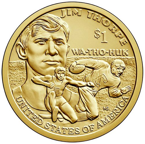2018 S Proof Jim Thorpe Sacagawea Native American Dollar Choice Uncirculated US Mint