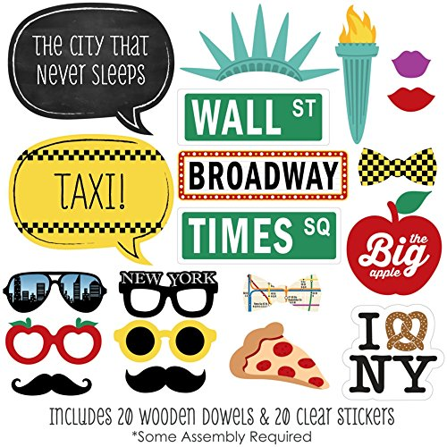 Amazoncom Big Dot Of Happiness New York Photo Booth Props Kit
