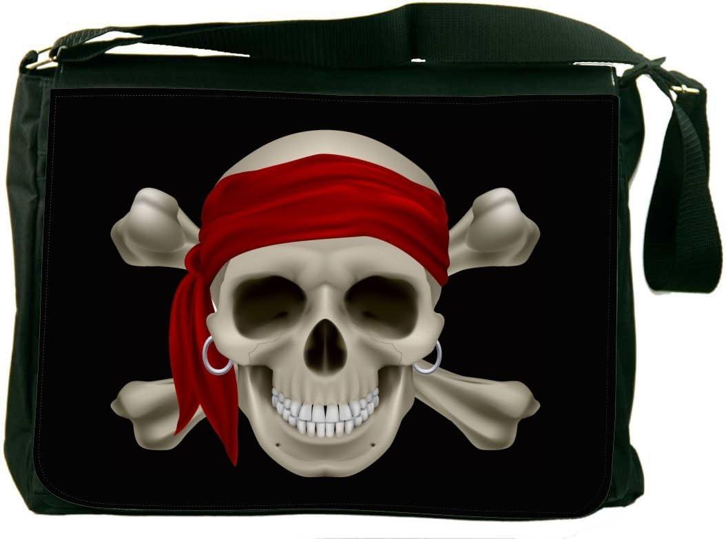 Rikki Knight Pirate Skull Messenger Bag School Bag