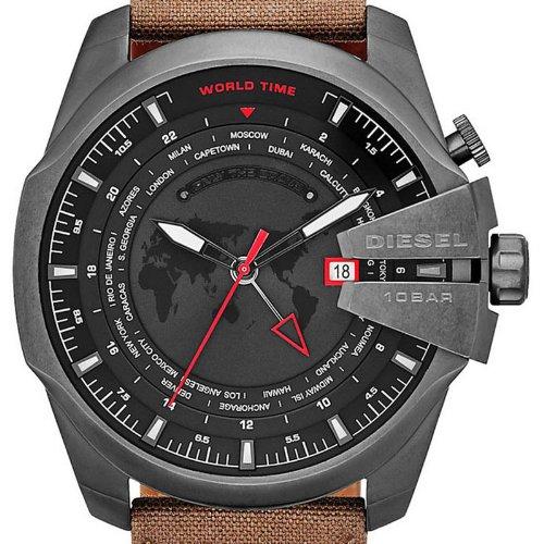 Diesel DZ4306 Mens Mega Chief Coffee Canvas Strap Watch