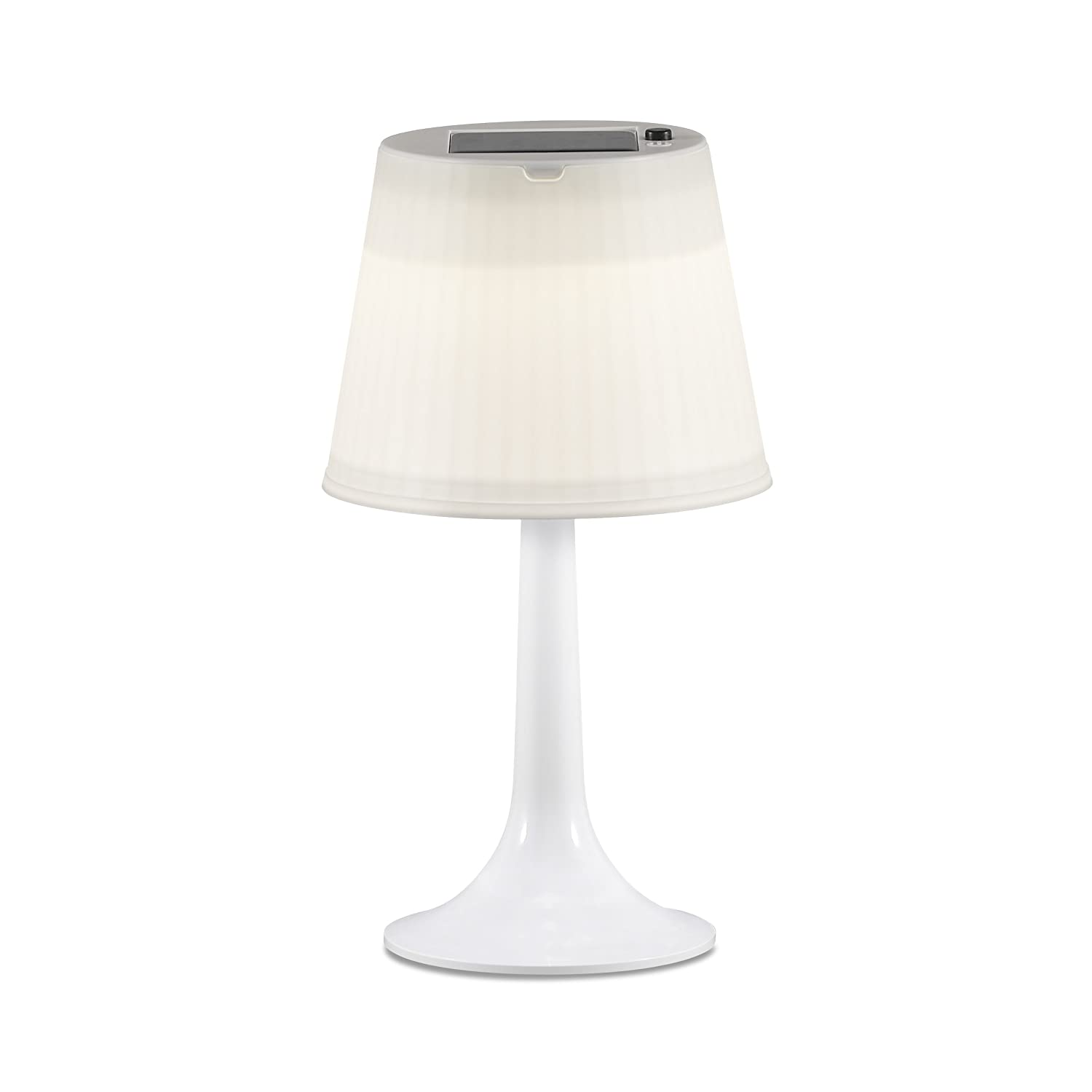 Konstsmide Assisi Solar LED Table Lamp - White 7109-202