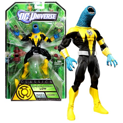 Mattel Year 2010 DC Universe Green Lantern Wave 1 Classics Series 7 Inch Tall Action Figure #5 - Sinestro Corps: LOW with MAASH 's Interchangeable Head and Hands Plus ARKILLO's Left Leg (T7853)
