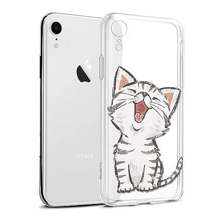d1e0fafc427 Funda iPhone XR, Eouine Cárcasa Silicona 3D Transparente con Dibujos Diseño  Suave Gel TPU [