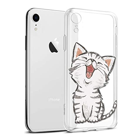 coque iphone xr transparente motif chat