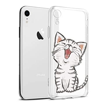 coque iphone xr chat 3d
