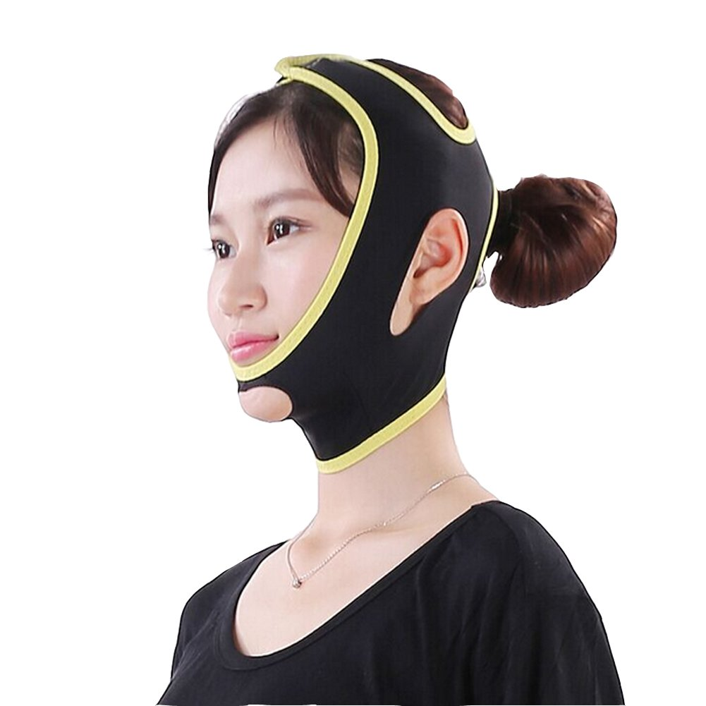 Surker Facial Care Face Slimming Chin Cheek Mask Lift V Face Line Belt Strap Face Slim Mask (M) Ltd