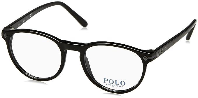 Ralph Lauren POLO 0PH2150 Monturas de gafas, Shiny Black, 49 para ...