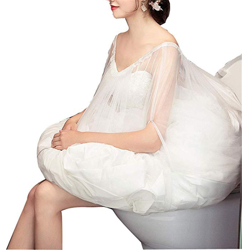 Toilet Petticoat for Bridal Wedding Dress Underskirt Save Your Dress from Toilet Water