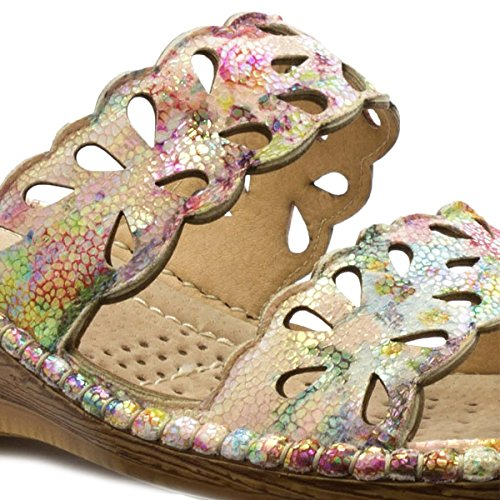 Cuscino Da Passeggio Womens Multicolore Comfort Mule Multicolore