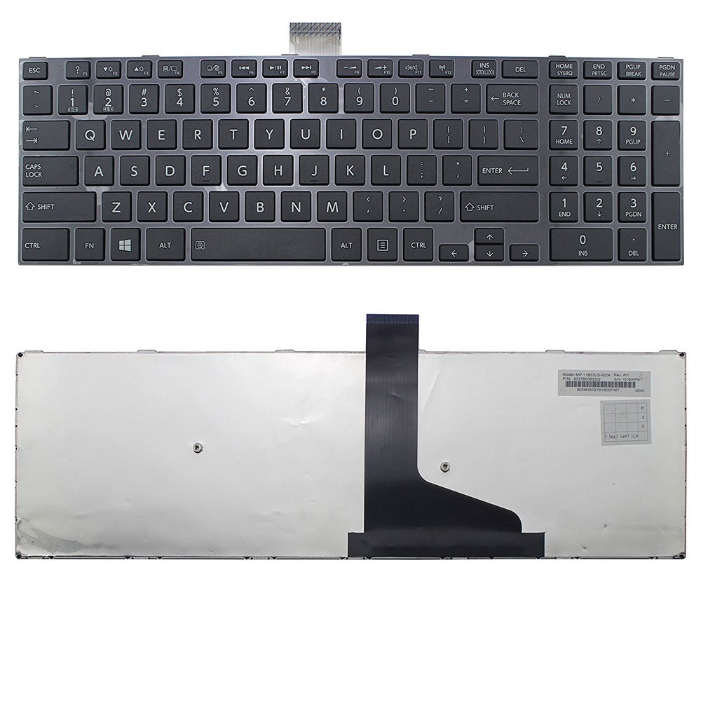 New US Black English Laptop Keyboard Compatible Toshiba Satellite S75-B7120 S75-B7121 S75-B7122 S75-B7216 S75-B7218 S75-B7231 S75-B7248 S75-B7261S S75-B7314 S75-B7316 S75-B7394 S75-B7396