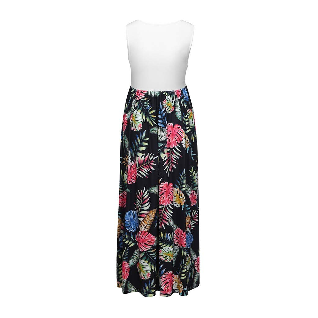671a23c6f Amazon.com: HOT Sale!!! Maternity Dress Floral Print Sleeveless Maxi Dress  Breastfeeding Braces Skirt Pregnancy Dress for Photography Daily Wearing  Baby ...