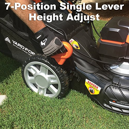 """Yard Force Lithium-Ion 22"""" Self-Propelled 3-in-1 Mower with Torque-Sense Control - 2 Batteries & Fast Charger included by YARD FORCE (Image #4)"""
