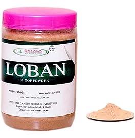BETALA FRAGRANCE LOBAN SAMBRANI DHOOP POWDER WITH DHOOP BURNER PLATE USE THIS DHUP POWDER FOR PUJA, FRAGRANCE OR HAWAN SAMGARI (LOBAN (MYRRH))
