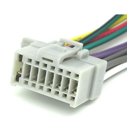 amazon com: 16pin wire harness for panasonic cq-rx100u / cq-rx200u  skpan16c-21: car electronics