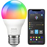 Govee LED Light Bulb Dimmable, Music Sync RGB Color Changing Light Bulb A19 7W 60W Equivalent, Multicolor Decorative No Hub R