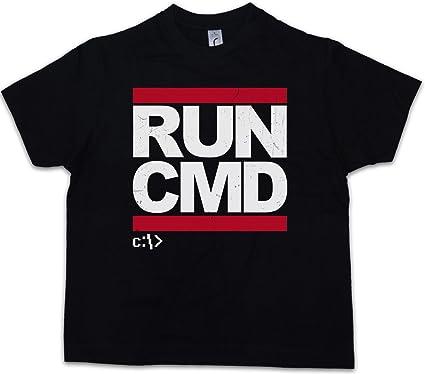 Run Cmd Jungen Kinder Kids T Shirt Dmc Hacker Informatik Computer