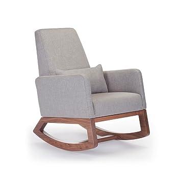 Monte Design Upholstered Modern Joya Rocking Chair Pebble Grey  sc 1 st  Amazon.com & Amazon.com: Monte Design Upholstered Modern Joya Rocking Chair ...