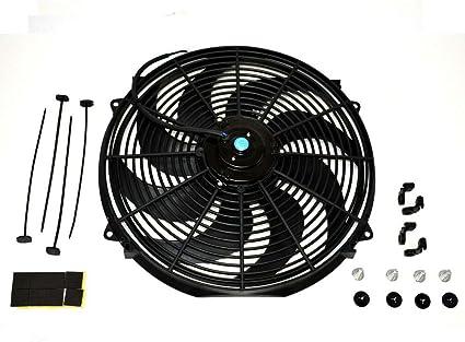 RONSHIN - Ventilador universal para radiador eléctrico de coche ...