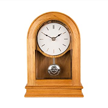 personalised oak 50th anniversary clock engraved golden wedding anniversary mantle clock golden anniversary gifts