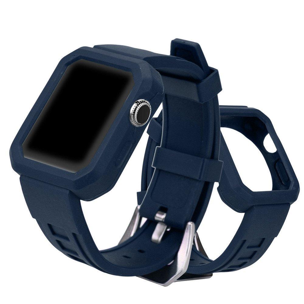 dreamythホットセールシリカゲルバックル腕時計バンドストラップベルトfor Apple Watchシリーズ3 / 2 / 1 42 mm  ネイビーブルー B075R5YZ8D