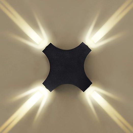 5 Watt COB-LED Design Wand Lampe Leuchte Metall Chrom Schalter Flur Esszimmer