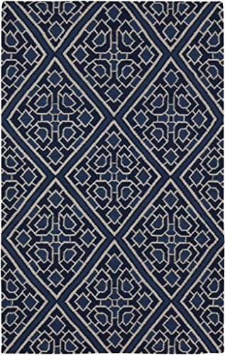 2'6'' x 8' Runner Surya Rug by Beth Lacefield AMD1005-268 Dark Blue Color Flatwoven in India ''Alameda Collection'' by Surya