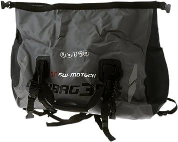 Hecktasche Motorrad Tasche Drybag 350 Tarpaulin Grau Schwarz Wasserdicht 35 L Auto