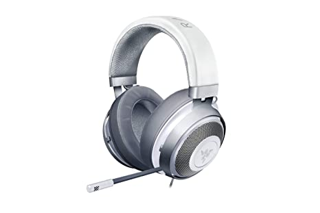 Razer Kraken Gaming Headset 2019: Lightweight Aluminum Frame - Retractable  Noise Cancelling Mic - for PC, Xbox, PS4, Nintendo Switch - Mercury White
