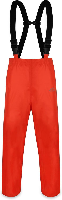 normani Erwachsenen Regenhose ungef/üttert mit Hostentr/ägern und wasserdicht sowie atmungsaktiv Farbe Orange Gr/ö/ße XXL Wind