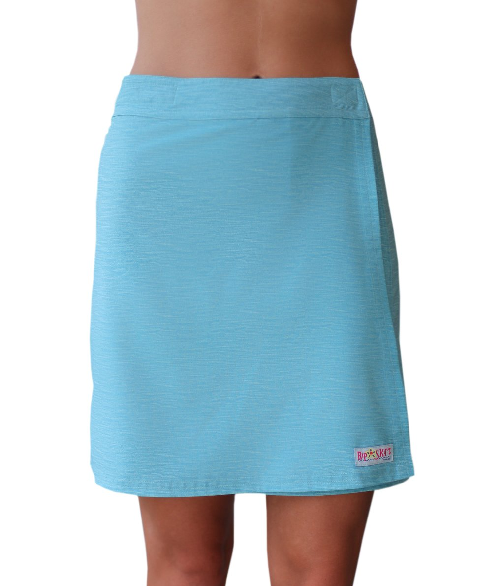 RipSkirt Hawaii - Length 2 - Quick Wrap Athletic Cover-up that Multitasks as the Perfect Travel/Summer Skirt,Brushed Carribbean,Medium / 8-10