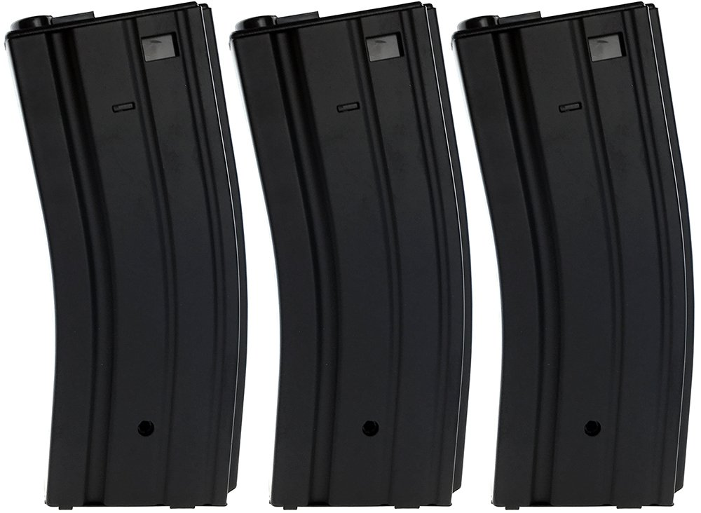 SportPro 300 Round Metal High Capacity Magazine for AEG M4 M16 3 Pack Airsoft – Black