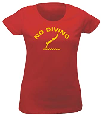 03dee13fdad1 Lifeguard   No Diving   Baywatch Fun Fancy Dress T-Shirt Sizes  XS (8) -  XXL (18) FREE POSTAGE (XS 8)  Amazon.co.uk  Clothing