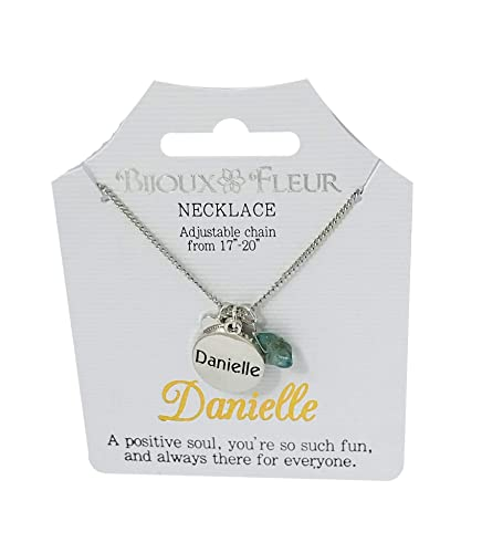 73d370c2440a29 Bijoux Fleur Necklace with The Name Danielle: Amazon.co.uk: Jewellery