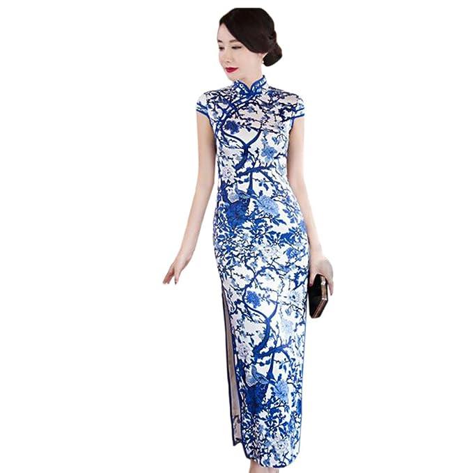 Lungo Hzjundasi Elegant Da Donne Vestito Cinese Biancheria Qipao rhQdCxts