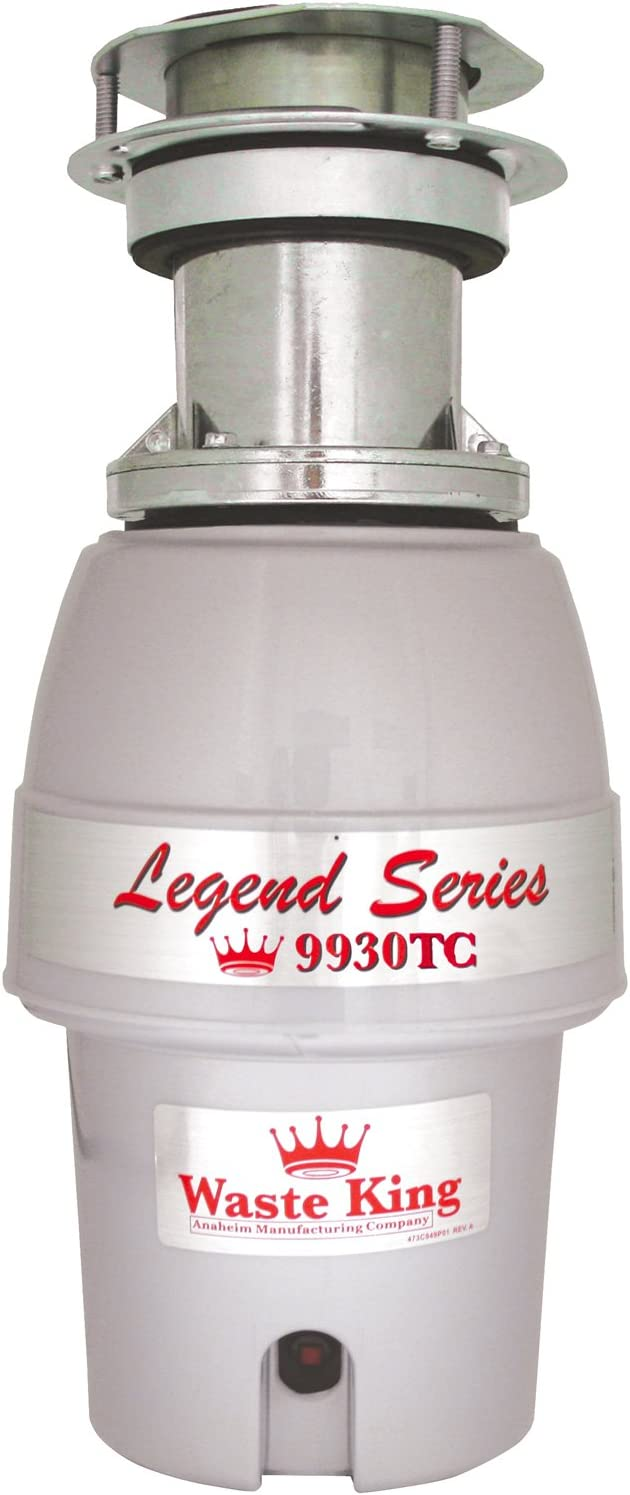 Waste King 9930TC Legend Series 1/2HP Batch Feed Operation Waste Disposer