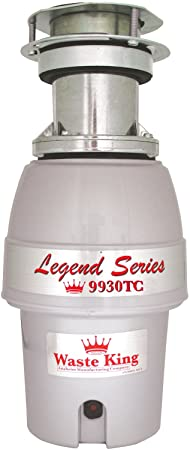 Waste King 9930TC Legend Series 1 2HP Batch Feed Operation Waste Disposer