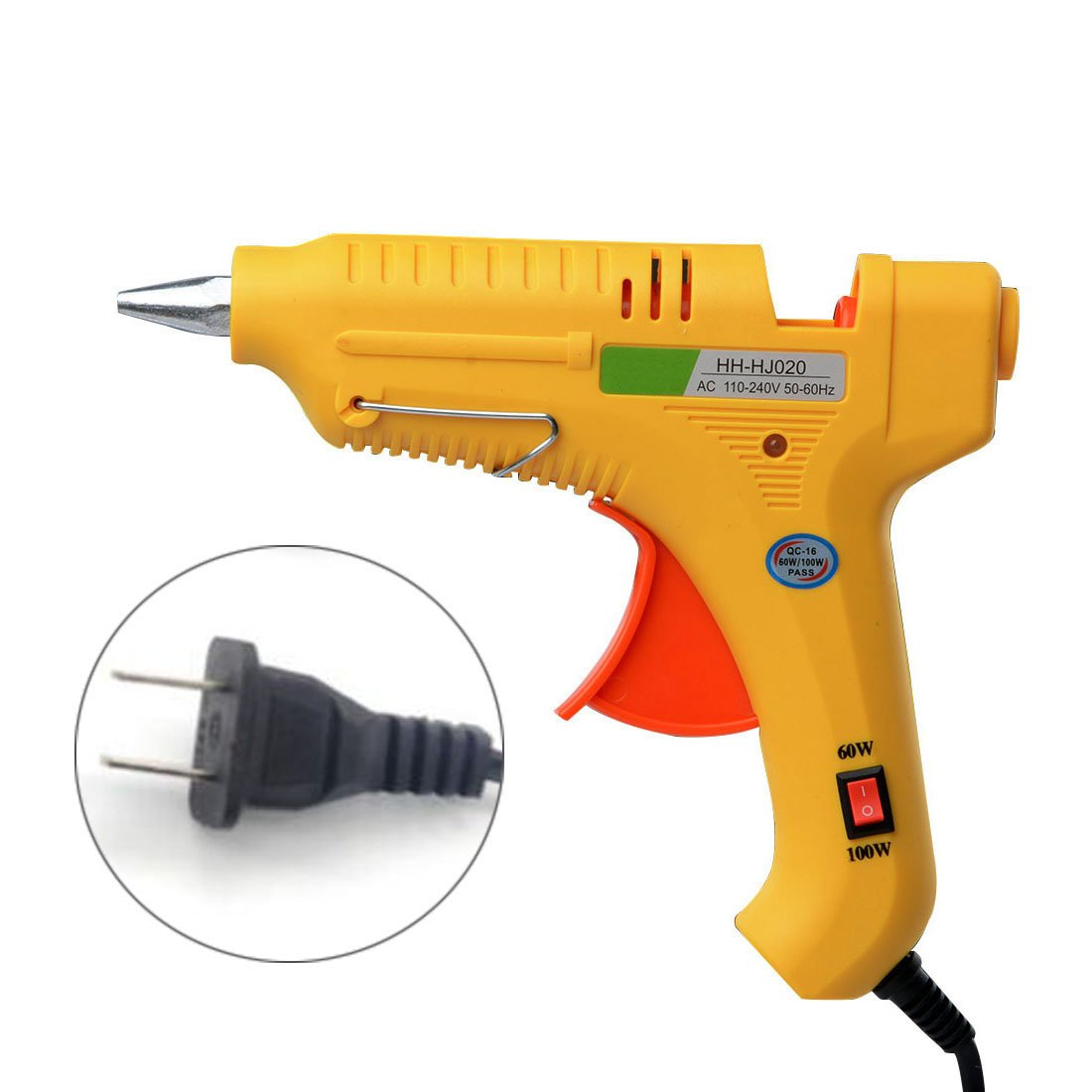 Glue Gun,YUIOP 60/100W Glue Gun, with 10Pcs Glue Sticks,60/100 Watt Dual Power Hot Melt Glue Gun, for DIY Small Projects, Arts and Crafts, Home Quick