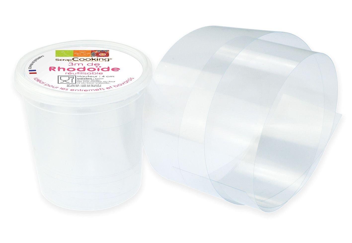 Rhodoïd plastic film for pastry 3 m x 4 cm ScrapCooking 9423