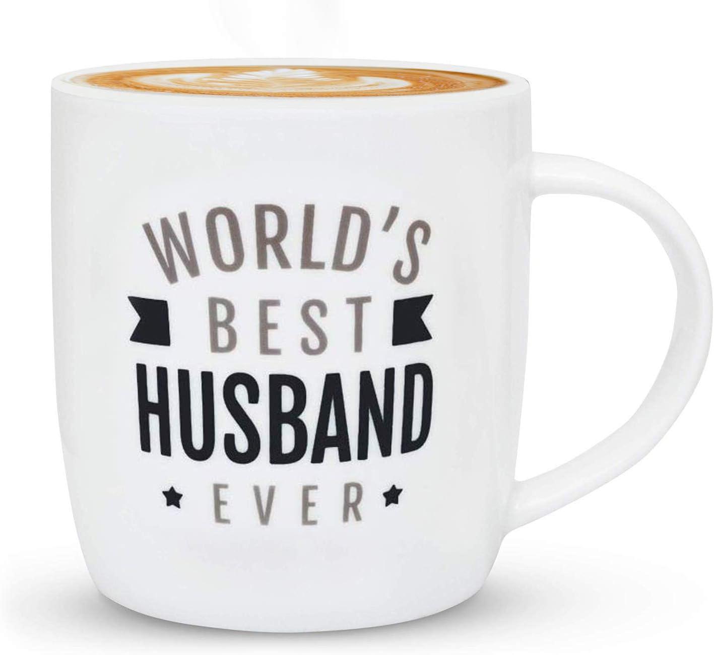 To My Husband Mug Funny Birthday Ceramic Mug Coffee Cup Gift For Men Women