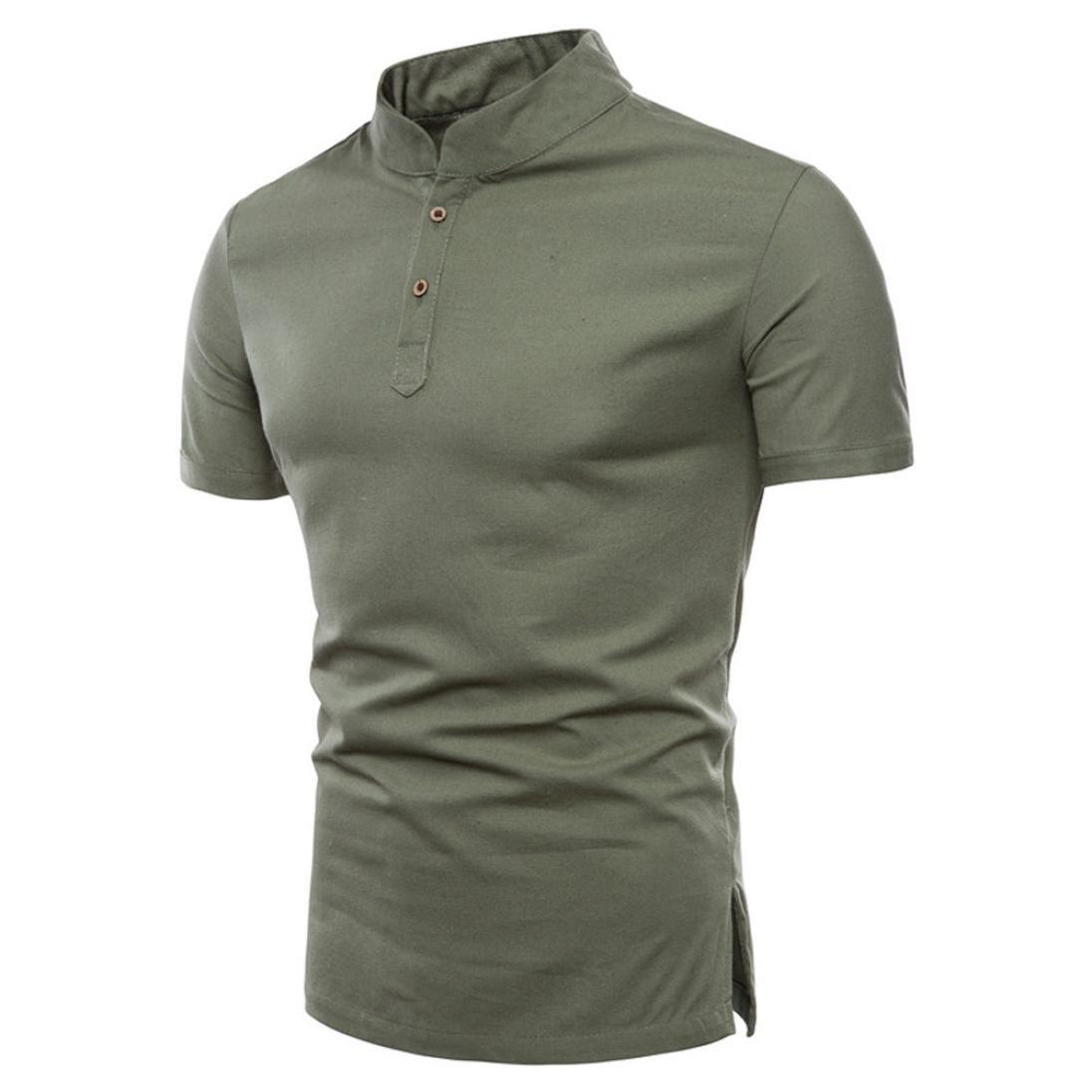 RETUROM -Camisetas Camiseta para Hombre, Manga Corta para Hombre con Cuello Redondo y Manga Corta (M, Gris Oscuro): Amazon.es: Ropa y accesorios