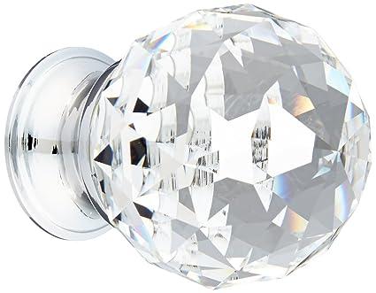 crystal furniture knobs. Baldwin 4336260S Swarovski Crystal Cabinet Knob, Bright Chrome Furniture Knobs D