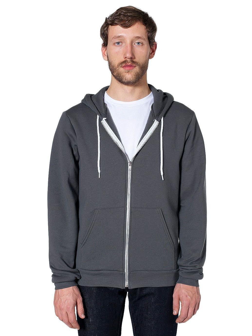 c0c1d0cd0 Amazon.com: American Apparel Men's Unisex Flex Fleece Zip Hoodie: Clothing